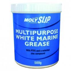 Multipurpose white marine Универсальная белая смазка с литиевым загустителем, ПТФЭ и цинком(500гр), Multipurpose white marine, Moly Slip