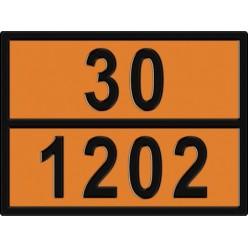 Табличка опасный груз по ДОПОГ 30/1202 - Дизельное топливо