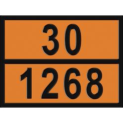 Табличка опасный груз по ДОПОГ 33/1268 - Нефтепродукты, Знак,