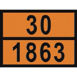 Табличка  опасный груз по ДОПОГ 30/1863 - Топливо авиационное, Знак,