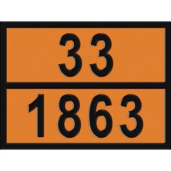 Табличка опасный груз по ДОПОГ 33/1863 - Авиационное топливо, Знак,